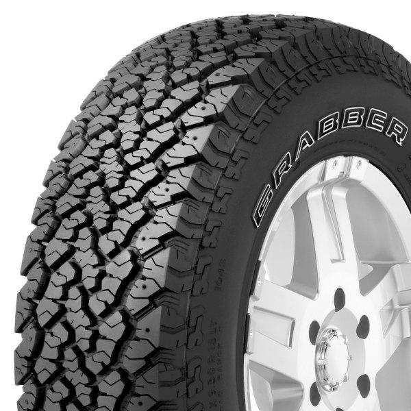 general tire 225 75r16 s grabber at2 w outlined white. Black Bedroom Furniture Sets. Home Design Ideas