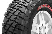 GENERAL® - GRABBER with Red Sidewall Tire Protector Close-Up