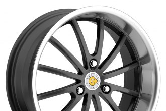 "GENIUS® - DARWIN Gunmetal with Mirror Cut Lip (17"" x 6"", +22 Offset, 3x112 Bolt Pattern, 57.1mm Hub)"
