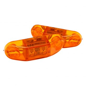 "GenRight® - Stealth Series 3x1"" Rectangular Amber LED Side Marker Lights"