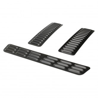 GenRight® - Black Powder Coated Long Hood Louver Kit