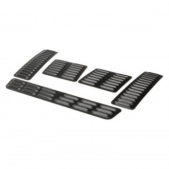 GenRight® - Black Powder Coated Long and Short Hood Louver Kit