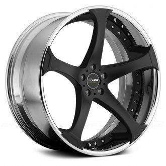 GFG® - D-2 Matte Black Center with Chrome Lip