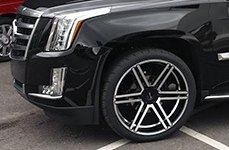 GIANELLE® - BOLOGNA Black with Machined Face on Cadillac Escalade