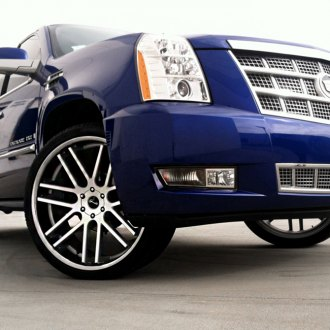 GIANELLE® - YEREVAN Black with Machined Face and SS Lip on Cadillac Escalade