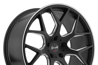 "GIANELLE® - PUERTO Black with Machined Accents (19"" x 8.5"", +35 Offset, 5x114.3 Bolt Pattern, 73.1mm Hub)"