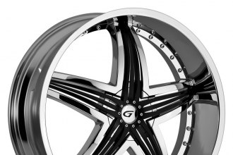 "GIANNA® - BLITZ Chrome with Black Inserts (22"" x 9.5"", +13 to +40 Offsets, 6x114.3-150 Bolt Patterns, 73.1-110mm Hubs)"
