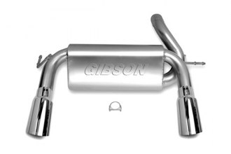 Gibson® 17303 - Split Rear™ Aluminized Steel Cat-Back Exhaust System - Straight Out The Back Exit (Aggressive Throaty Sound)