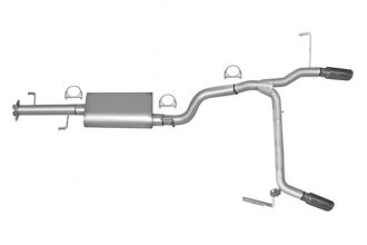 Gibson® 18808 - Split Rear™ Aluminized Steel Cat-Back Exhaust System - Straight Out The Back Exit (Aggressive Throaty Sound)