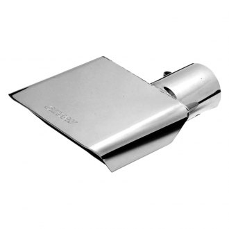 Gibson® - Stainless Steel Rectangular Angle Cut Bolt-On Exhaust Tip