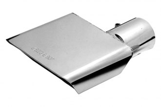 Gibson® - Passenger Side Stainless Steel Rectangular Angle Cut Single-Wall Polished Exhaust Tip