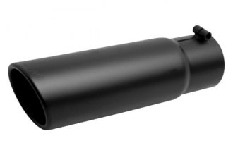 Gibson® - Black Ceramic Rolled Slash-Cut Exhaust Tip