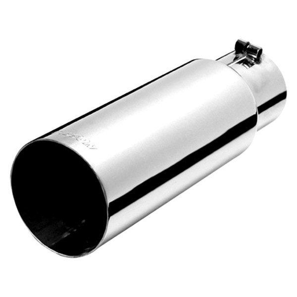 Gibson® - Polished T304 Stainless Steel Rolled Slash-Cut Exhaust Tip