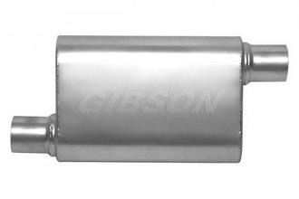 "Gibson® - CFT Superflow™ Aluminized Steel Oval Muffler (2.25"" Offset Inlet / 2.25"" Offset Outlet, 19"" Overall Length)"