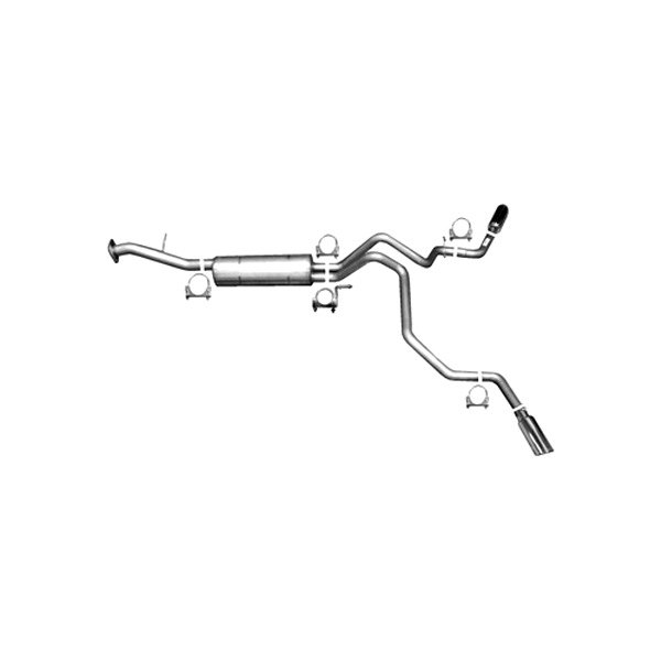 Gibson® - Extreme Dual™ Aluminized Steel Cat-Back Exhaust System