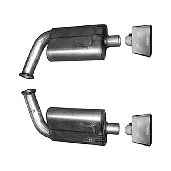 Gibson® - American Muscle Car™ Stainless Steel Dual Cat-Back Exhaust System