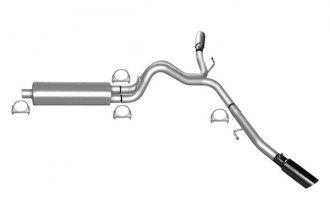 Gibson® 62211 - Extreme Dual™ Stainless Steel Cat-Back Exhaust System - Behind Each Rear Tire Exit (Aggressive Sound)