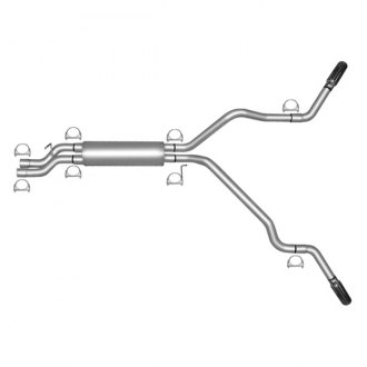 Gibson® - Extreme Dual™ Stainless Steel Cat-Back Dual Exhaust System