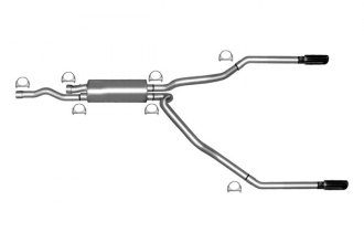 Gibson® - Split Rear™ Dual Cat-Back Exhaust System