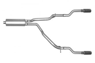Gibson® 66535 - Split Rear™ Stainless Steel Cat-Back Exhaust System - Straight Out The Back Exit (Aggressive Throaty Sound)