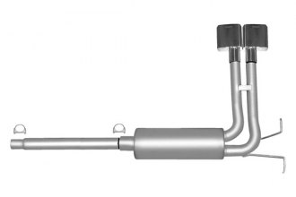 Gibson® 69513 - Super Truck™ Stainless Steel Cat-Back Exhaust System - In Front of Rear Tire Exit