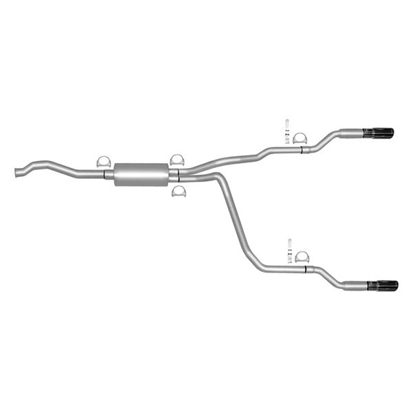 Gibson® - Split Rear™ Aluminized Steel Cat-Back Exhaust System