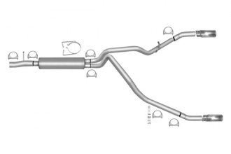 Gibson® - Split Rear™ Cat-Back Exhaust System