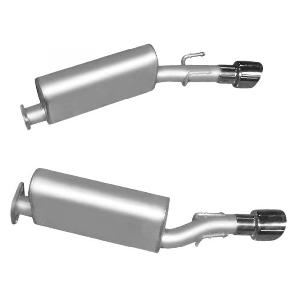 Gibson® - American Muscle Car™ Aluminized Steel Dual Axle-Back Exhaust System