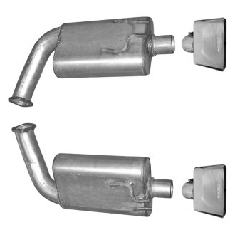 Gibson® - American Muscle Car™ Dual Axle-Back Exhaust System with Split Rear Exit
