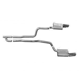 Gibson® - American Muscle Car™ Dual Exhaust System with Split Rear Exit
