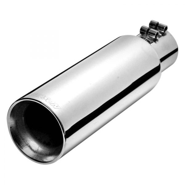 Gibson® - Stainless Steel Round Angle Cut Double-Wall Polished Exhaust Tip