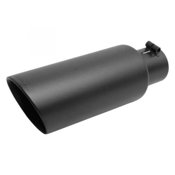 3/'/' Inlet 4/'/' Outlet 12 inch Long Car Exhaust Tip Stainless Angled Black Bolt-On