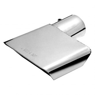 Gibson® - Stainless Steel Rectangular Angle Cut Bolt-On Single-Wall Exhaust Tip