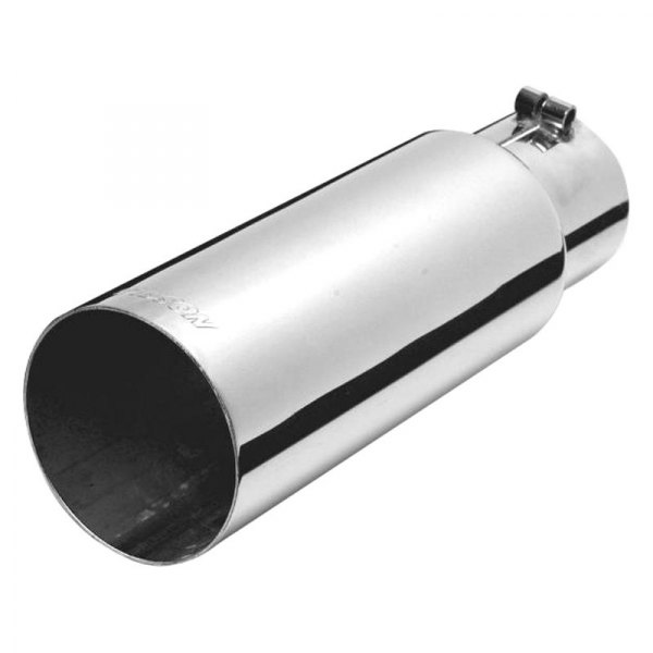 "Gibson 3.5/""-4/"" Rolled Edge Angle Black Ceramic Exhaust Tip 12/"" Length"