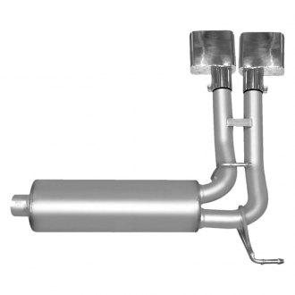 Gibson® - Super Truck™ Single Cat-Back Exhaust System with Dual Side Exit