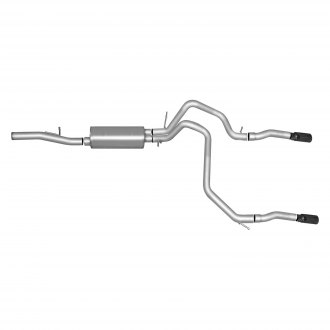 Gibson® - Black Elite™ Stainless Steel Dual Cat-Back Exhaust System with Split Rear Exit