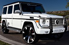 GIOVANNA ANDROS Black with Machined Spokes on Mercedes G Class