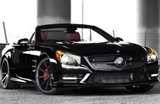 GIOVANNA LINDOS-RL Matte Black with Machined Edge on Mercedes SL550
