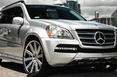 GIOVANNA LINDOS-RL Silver with Machined Edge on Mercedes GL Class