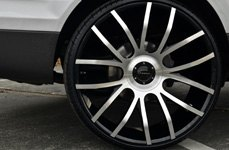 GIOVANNA SIENNA Black with Machined Face on Audi Q7