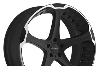 "GIOVANNA® - DALAR-5 Black with Machined Stripe (22"" x 10.5"", +35 Offset, 5x120.65 Bolt Pattern, 72.56mm Hub)"