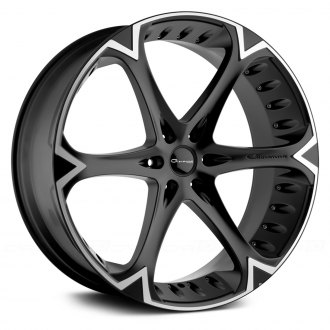 GIOVANNA® - DALAR-6V Black with Machined Stripe Wheel