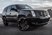 GIOVANNA® - DALAR-6V Black with Machined Stripe Wheels on Cadillac Escalade