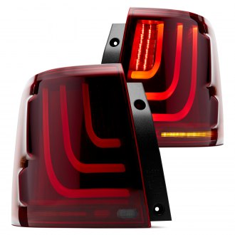 Glohh™ - GL-3 Dynamic Black/Red Fiber Optic LED Tail Lights