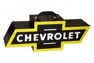 Go Boxes® - Chevy Portable Toolbox - Black with Yellow Border