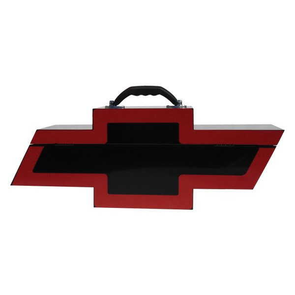 Go Boxes® - Chevy Portable Toolbox - Black with Red Border