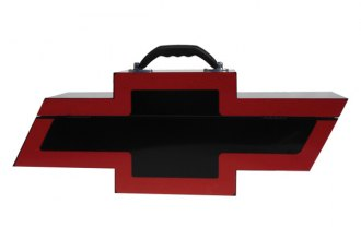 Go Boxes® BT1000BR - Chevy Portable Toolbox (Black with Red Border)