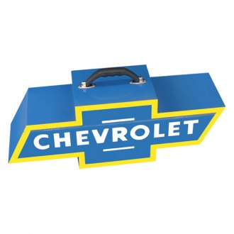 Go Boxes® - Chevy Portable Toolbox - Blue with Yellow Border
