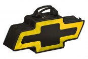 Go Boxes® - Chevy Canvas Bag - Black with Yellow Border