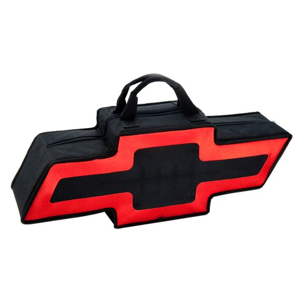 Go Boxes® - Chevy Canvas Bag - Black with Red Border